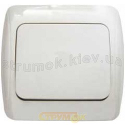 Выключатель 1-клавишный BB10 - 1-0 - Sq - W белый цвет Укрем АсКо