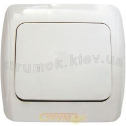 Выключатель 1-клавишный BBсб 10-1-0-Sq-W белый АСКО