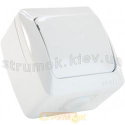 Выключатель 1-клавишный накладной АLSU EL-BI