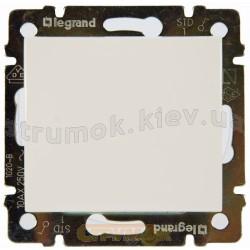 Выключатель одноклавишный крестовой 10А Legrand Valena 774407 белый