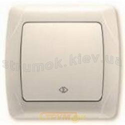 Выключатель 1-клавишный крестовой Viko Carmen белый цвет