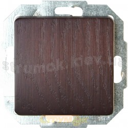 Выключатель 1-клавишный перекрестный Milano-венге 6187.3708.8 серия Milano натуральное дерево