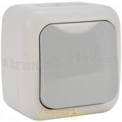 Выключатель 1-клавишный проходной накладной Viko Palmiye IP54 В-5504