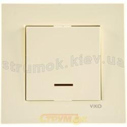 Выключатель 1-клавишный с подсветкой кремовый KARRE