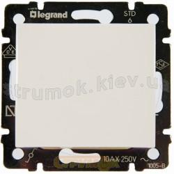 Выключатель 1-клавишный универсальный 10А Legrand Valena 774406 белый
