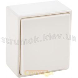 Выключатель 1-клавишный универсальный 5655 Hager / Polo белый цвет