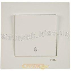 Выключатель 1-одинарный проходной Viko Karre 90960004 белый цвет