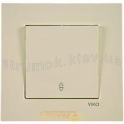 Выключатель 1-клавишный универсальный Viko Karre кремовый цвет