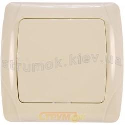 Выключатель 1-клавишный Viko Carmen кремовый цвет 90562001