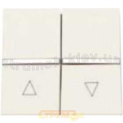 Выключатель 1-клавишный / жалюзи ABB Zenit N2244 ВL белый цвет