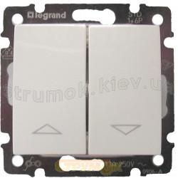 Выключатель для управления жалюзи 10А Legrand Valena 774414 белый