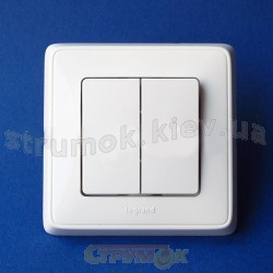 Выключатель 2-клавишный (белый) 773605 Cariva