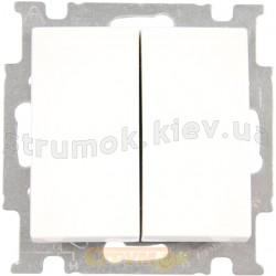 Выключатель 2-клавишный проходной ABB Basic 55 2006/6/6 UC 94-507 10А белый цвет