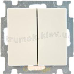 Выключатель 2-клавишный проходной ABB Basic 55 2006/6/6 UС-92-507 слоновая кость