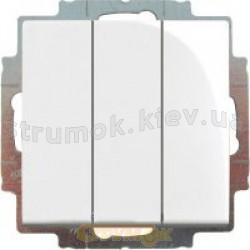 Выключатель 3-клавишный ABB Basic 55  10631 UС-92-507 слоновая кость