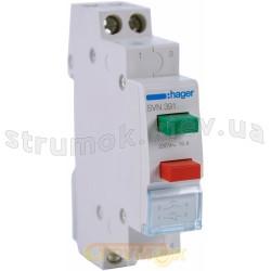 Выключатель двух кнопочный 1NO+1NC 230В/16А без фиксации SVN391 HAGER
