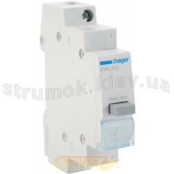 Выключатель кнопочный с фиксацией  Hager 230В/16А 11NO SVN312