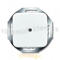 Заглушка с суппортом 2538-214 ABB Reflex SI белый цвет