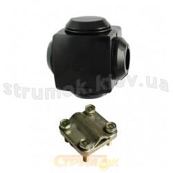 Зажим / сжим ответвляющий (орех) У733 (магистраль 16-35/отвод 1.5-10)мм.кв.