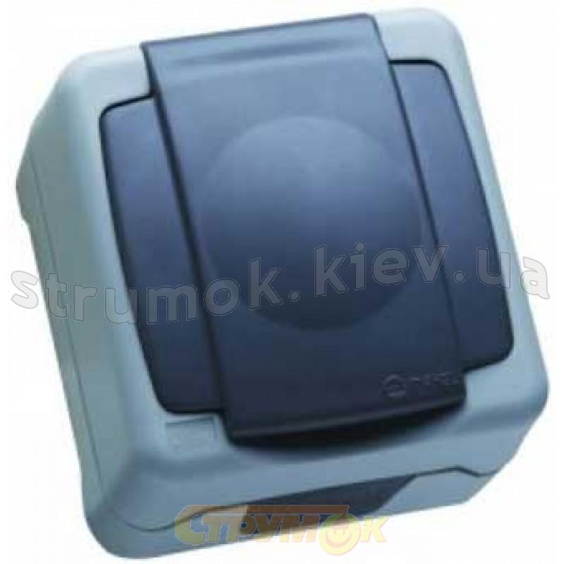 28553ac320f4 Розетка MAKEL Nemliyer Plus IP55 с Z заземлением и крышкой 36064029  накладная серый цвет