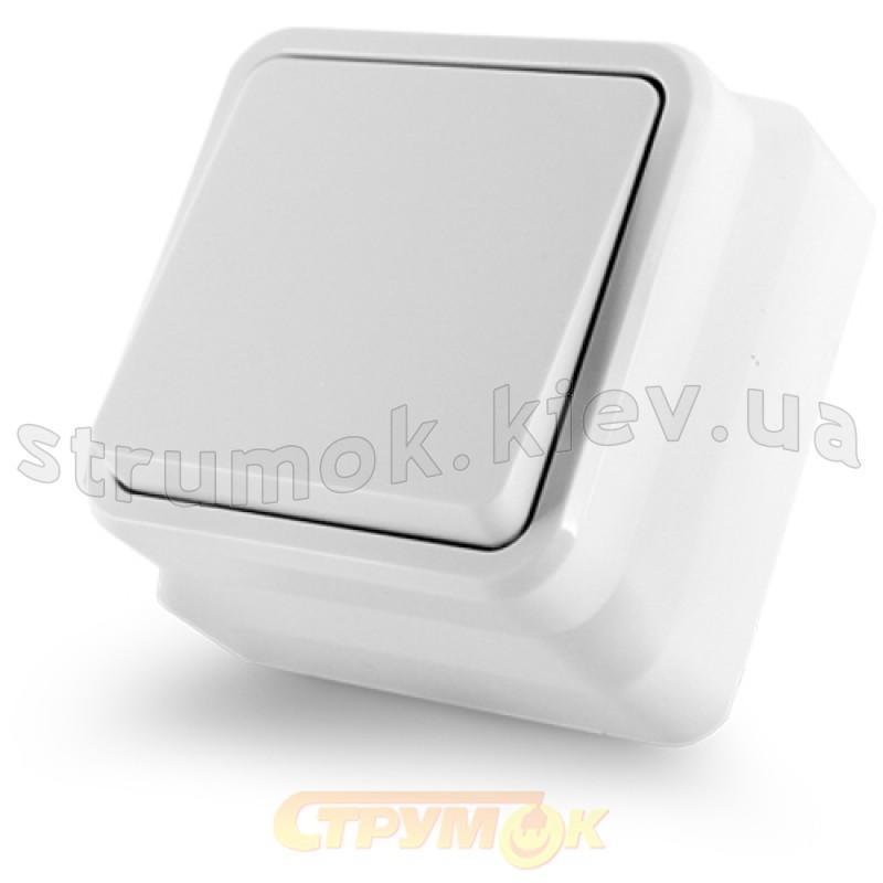 Выключатель 1-клавишный Erste Country 8005-01.W накладной белый цвет e6cf53ef5ce