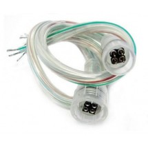 Cоединитель LED-ленты №5, 2 pin, 8мм провод + 2 зажима