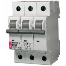 Автоматический выключатель 3p D-63A  (6кA)  ETIMAT 6 2164522