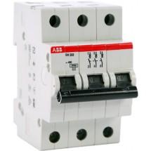 Автоматический выключатель ABB SН203 В25А 6кА 3-полюсный 2CDS213001R0255