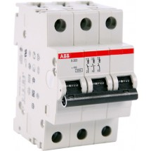 Автоматический выключатель ABB S203 С 2А 6кА 3-полюсный 2CDS253001R0024