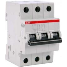 Автоматический выключатель ABB SН203 С 6А 6кА 3-полюсный 2CDS213001R0064