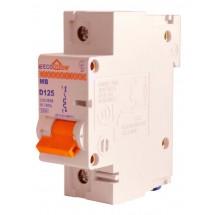 Автоматический выключатель ECOHOME 1p D 125A Аско Укрем ECO МВ 1-полюсный ECO070010003