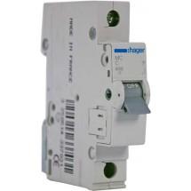 Автоматический выключатель Hager In=0.5 А С 6kA MC100A 1-полюсный
