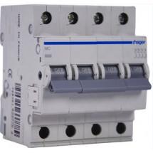 Автоматический выключатель Hager In=32А B 6kA MB432A 4-полюсный