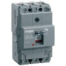 Автоматический выключатель  x160 Hager In=63А 3п 18kA HDA063L 3-полюсный