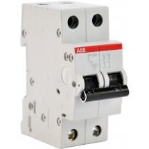 Автоматический выключатель АВВ SН202 С 6А 6кА 2-полюсный 2CDS212001R0064