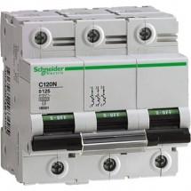 Автоматический выключатель Schneider C120N 125А С 10кА A9N18369 3-полюсный