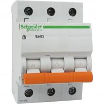 Автоматический выключатель Schneider ВА63 3п 25А С 4,5кА 11225 3-полюсный