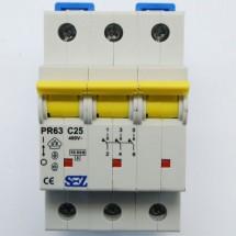 Автоматический выключатель SEZ PR 63-С 25А 10кА 3-полюсный