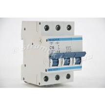 Автоматический выключатель, С ,16А, 3-п, 6кА, SIGMA 6SM316C