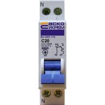 Автоматический выключатель Укрем ВА-2002 (1+N) 20А С 6кА AcKo 2-полюсный A0010020004