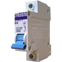 Автоматический выключатель Укрем ВА-2006 1р 3А 6кА D AcKo 1-полюсный A0010060003