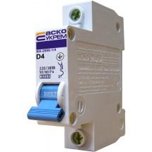 Автоматический выключатель Укрем ВА-2006 1р 4А 6кА D AcKo 1-полюсный A0010060004