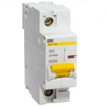 Автоматический выключатель ВА47-100 1p D- 100А 10кА ИЭК 1-полюсный MVA40-1-100-D
