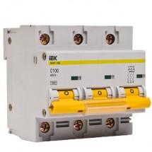 Автоматический выключатель ВА47-100 3p 100А 10кА C ИЭК MVA40-3-100-C 3-полюсный