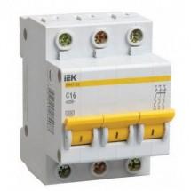 Автоматический выключатель ВА47-29М 3р 6 А, 4,5кА ИЭК MVA21-3-006-C
