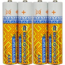 Батарейка щелочная ААА.LR03.S4 (упаковка 4шт.)