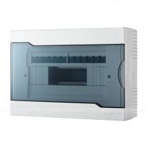 Бокс пластиковый 12 модулей накладной LEZARD 730-2000-012 с прозрачной крышкой