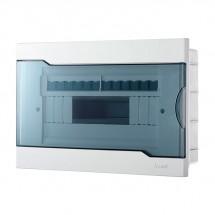 Бокс пластиковый 12 модулей внутренний  LEZARD 730-1000-012 с прозрачной крышкой