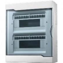 Бокс пластиковый 24 модулей накладной LEZARD 730-2000-024 с прозрачной крышкой