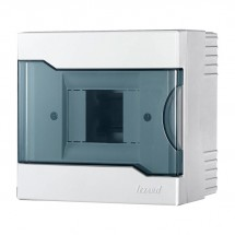 Бокс пластиковый 4 модуля накладной LEZARD 730-2000-004 с прозрачной крышкой